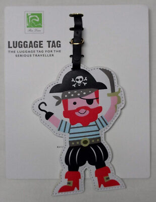 Ren Dian Colorful PVC Luggage Tag Pirate & Skull NEW