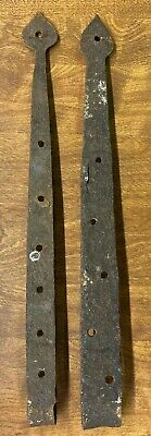 Architectural Primitive Antique Hardware Forged Barn Door Gate Strap Hinges Iron