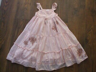 K Girls Age 5 Years Pink Next Dress KIDS SUMMER PARTY WEDDING SEQUINS BEADED