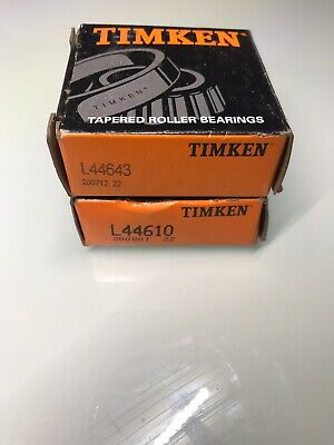 """L44610 L44643 BEARING CUP AND CONE SAME AS TIMKEN SET 14 1/"""" TRAILER A SET 2"""