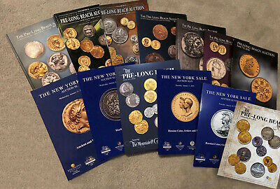 13 New World & Ancient Coins Catalog Lot Heritage New York 2016-2019 Russia More