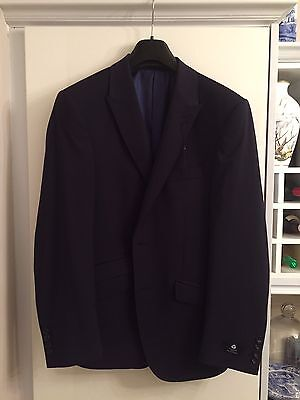 Mens Luxury M&S Marks & Spencer Autograph Tailored Fit Jacket Blazer - Navy