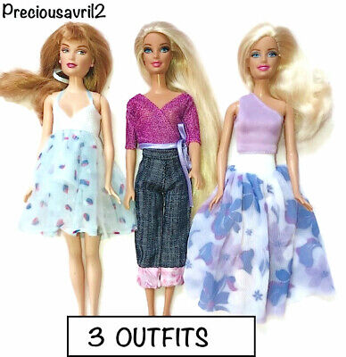 New barbie doll clothes outfit clothing sets set of 3 outfit evening
