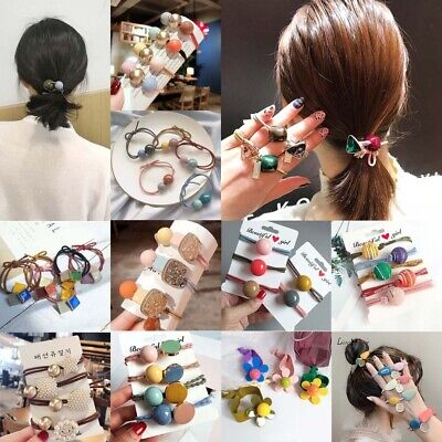 Cute Women Flower Rubber Bands Elastic Headband Hair Ties Ring Rope For Girls