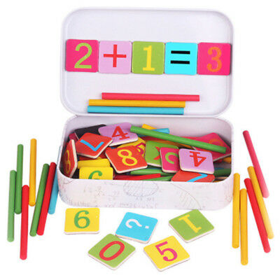 Wooden Stick Magnetic Mathematics Puzzle Education Number Toy-PN