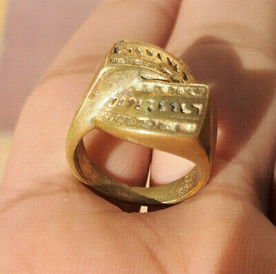 Rare Ancient Interesting Bronze Ring Legionary Artifact Antique Original Amazin