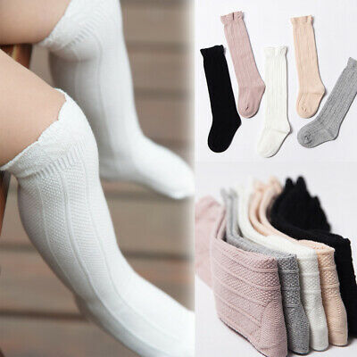 Boys Girls Infant Baby Leg Warmer Cotton Knee High Stockings Long Stockings
