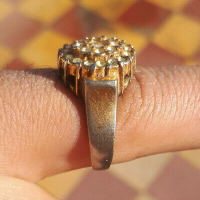 Rare Ancient Interesting Bronze Mix Metal Ring Artifact Antique Amazing