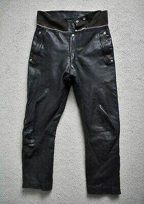 Vtg 60s 70s LEWIS LEATHERS Motorcycle Rider Trousers Biker Pants Aviakit W33 L28