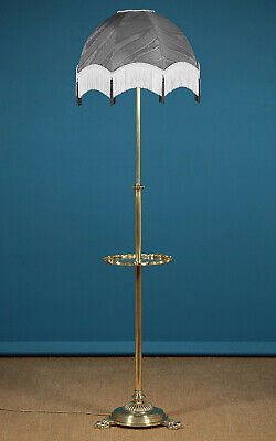 Antique Late 19th.c. Brass Standard Lamp c.1890.