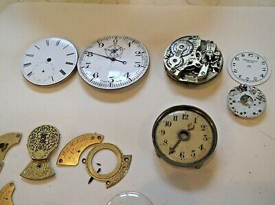Ex Watch Repair Man, Large Amount Of Watch Parts, Various Items New & Old.