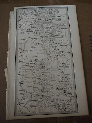 "Antique Map ""Map of the River Wye and Adjacent County from Chepstow to Monmouth"""