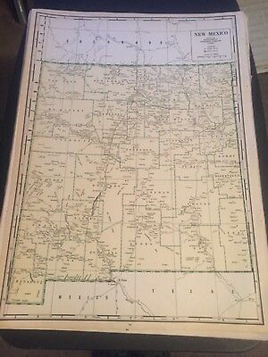 L@@K! Vintage 1940 World Atlas Map of   New Mexico WWII World War Map