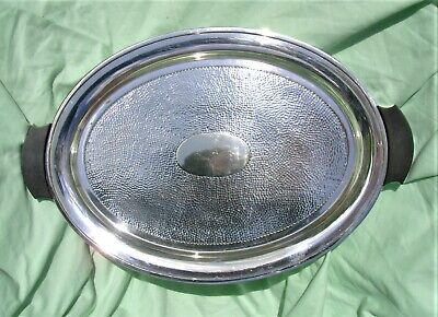 Vintage Good Quality Silver Plated Serving Tray with handles. Art Deco.
