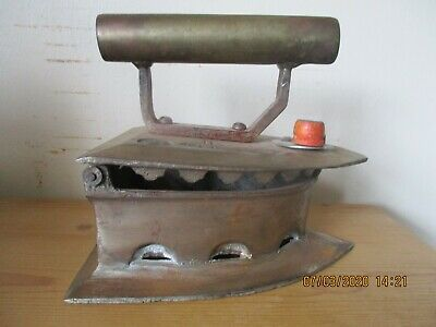 Large Antique Copper/ Brass Coal Iron, smoothing iron SPECIAL 12