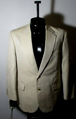 Men's BROOKS BROTHERS Beige Linen Blazer Suit Jacket Size 43R NWOT