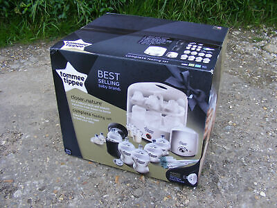 New Tommee Tippee Closer to Nature Complete Feeding Set with Steriliser & Bottle