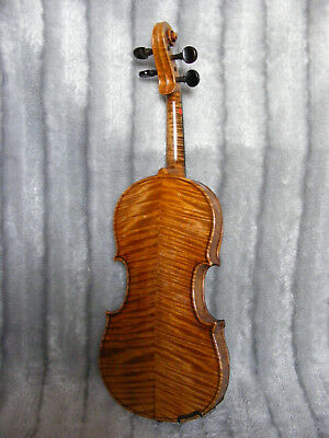 1/2 Half Size Old Antique Vintage German? French? Italian? Violin with Bow