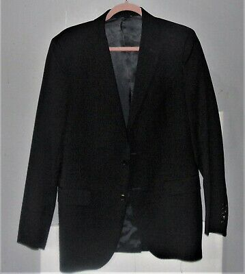 38R Brooks Brothers 1818 'Fitzgerald' Suit Coat, Blazer 100% Wool (Black)