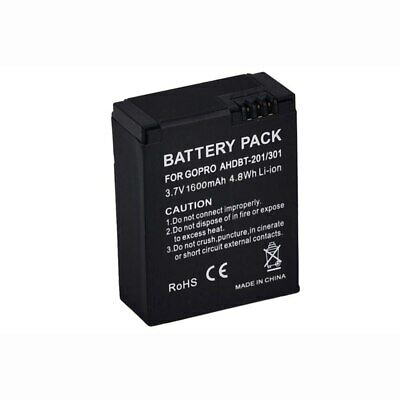 Replacement Battery For Go Pro Hero 3 3+ AHDBT-301 AHDBT-201 1600mAh  (IL/RT6...