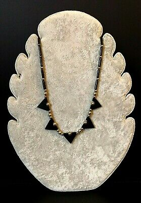 Rare Art Deco 1930s Machine Age German Modernist Jakob Bengel Necklace Galalith