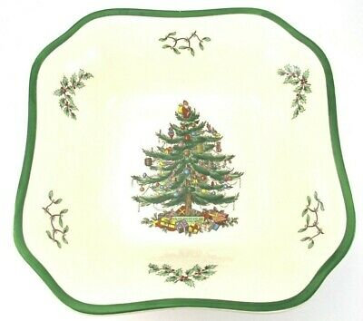 Spode Christmas Tree SQUARE VEGETABLE BOWL or CASSEROLE Iconic Pattern Holiday