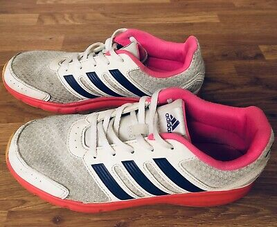 Adidas Girl Trainers White / Pink Shoes UK 5 1/2 EU 38 2/3 Non Marking Soles