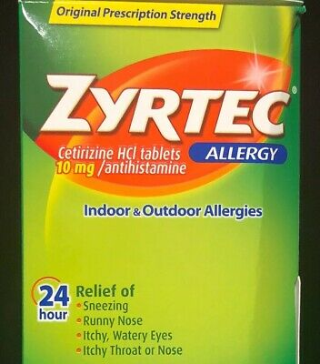 Five (5) coupons Zyrtec & Rhinocort. Each coupon is $4 off any 24 ct pkg/1btl