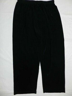 Womens pants CHICO'S size 1 (small 8) black cropped capri travelers acetate