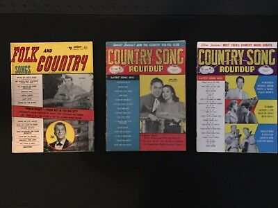 VINTAGE 13 Different Country Song Roundup magazines 50's 60's Antique - Elvis