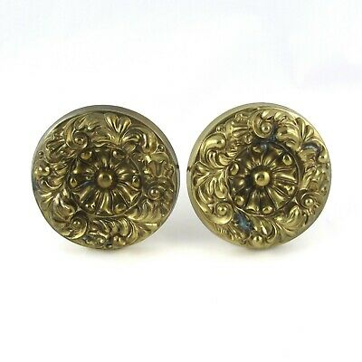 Antique Pressed Brass Curtain Tie Backs - Set of 2