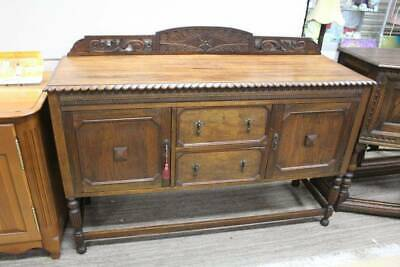 An Antique Art Nouveau English Oak Sideboard - Jacobean Buffet