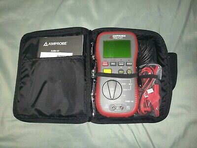 AMPROBE AMB-45 Battery Operated Megohmmeter,1000VDC FULL KIT Batteries Included