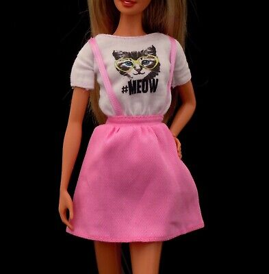 Mattel Barbie Doll Model Muse Fashionistas Meow Kitty Jumper Cocktail Dress