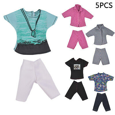 5 Sets Casual Handmade Fashion Clothes Dress for Barbie Ken clothes boy Doll