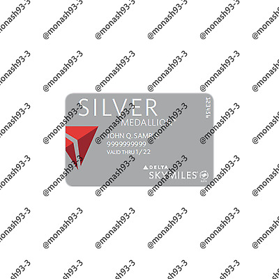 INSTANT UPGRADE Delta Airlines SILVER Membership Skyteam Elite Plus to 01/22