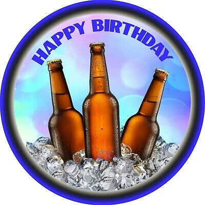Cupcake Toppers BEER ALCOHOL PUB CARLTON DRAUGHT 7 Inch Edible Image Cake