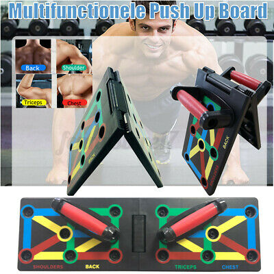 12 in1 Push Up Rack Board Fitness Workout Train Gym Exercise Pushup Stand New