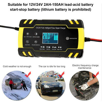 Car LCD Repair Battery Charger 12V 8A/24V 4A Automotive Pulse Repair Maintainer