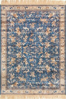 8438 COL 9 NAVY ORIENTAL SILKY FINISHED RUGS with SPECIAL OFFER CHIRAZ