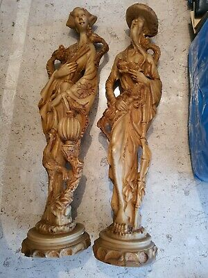 Pair Of Oriental Figurines 18 inches tall