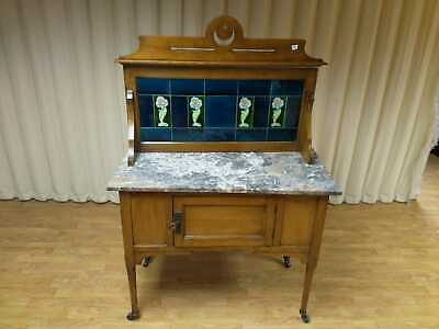 Antique Victorian Marble Top Washstand/Dressing Table