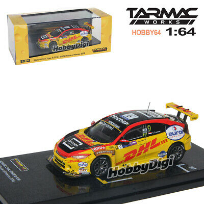 Tarmac Works 2019 Hobby64 HONDA CIVIC Type-R TCR WTCR Race of Macau 2018 DHL #9