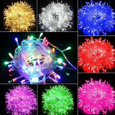 100LED Waterproof String Fairy Lights Clear Wires Party Wedding Dorm Room Decor