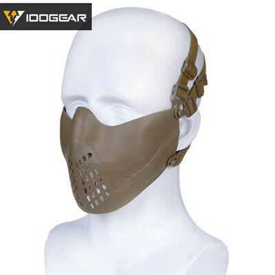 IDOGEAR Pilot Tactical Half Face Mask Airsoft Mask FAST Helmet MultiFuntion Gear