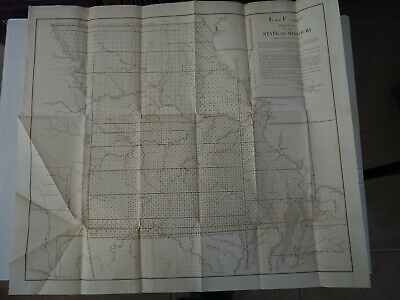 """Antique Map """"Diagram of the State of Missouri"""" 1852 E & F Combined"""