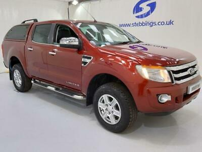 2012 12 Ford Ranger 2.2 Limited 4X4 Double Cab Pick Up Tdci 4D 148 Bhp  Low Mile