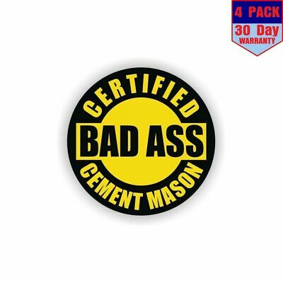 Helmet Sticker Label Masonry Certified Bad Ass Cement Mason Hard Hat Decal