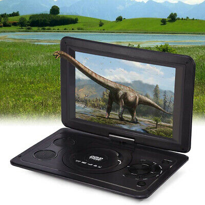 13.9inch LCD Home TV Game Car DVD Player CD Outdoor Portable HD Swivel Screen