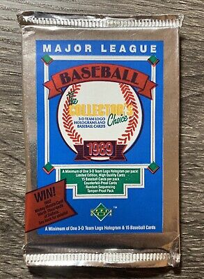 1989 Upper Deck Baseball Cards - LOW NUMBERS - Unopened Foil Pack  FREE SHIPPING